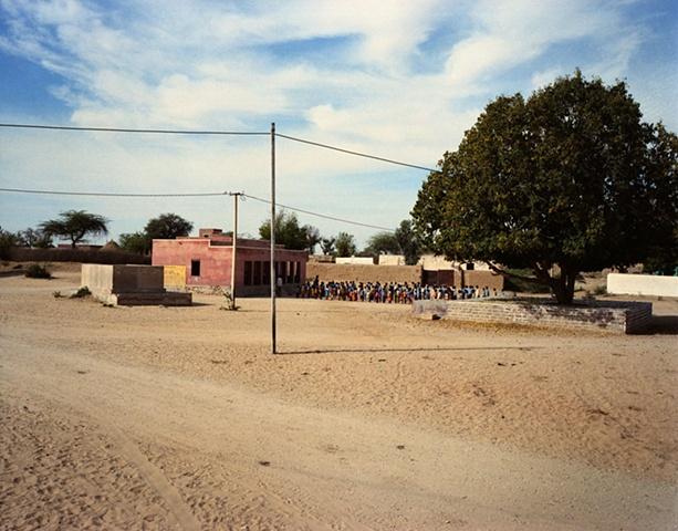School assembly; Thar Desert, Rajasthan