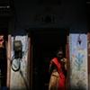 Woman in street; Jaipur, Rajasthan