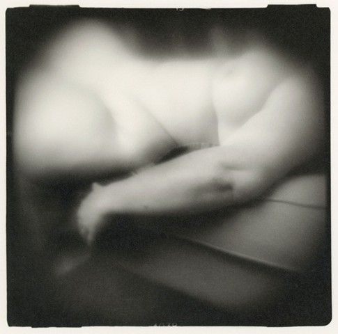 Nude photograph of Misha.  Holga camera, traditional darkroom print.