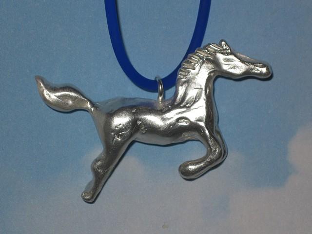 Lost wax cast sterling silver pendant