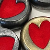 Fuzzy Heart Paperweights