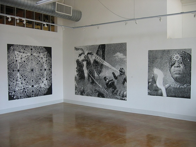 "Installation View from Swarm Gallery show ""Somewhere in Space""  2008"