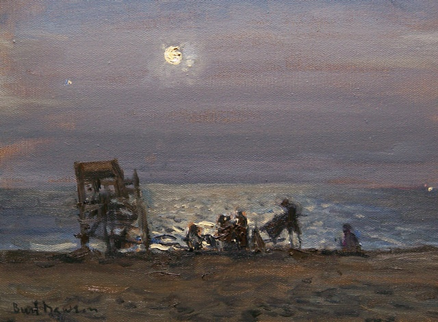 Charlestown Beach, RI, oil painting, Burl Dawson
