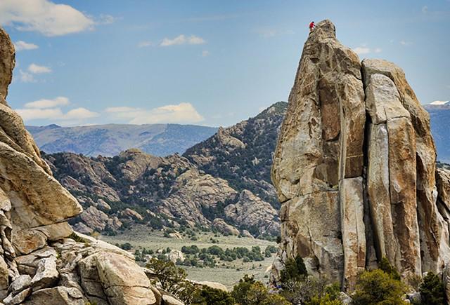 Climber at City of Rocks Idaho