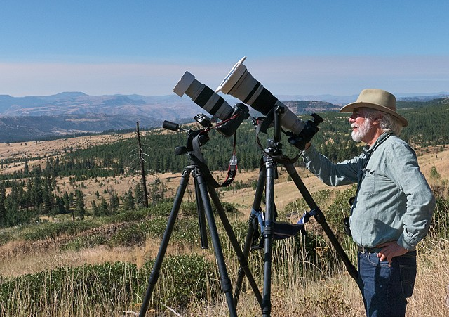 Stephen Johnson, Workshop Leader, at the Eclipse Site  Aug 2017