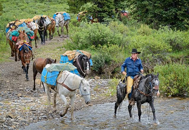Crossing Carson Creek  July 2016