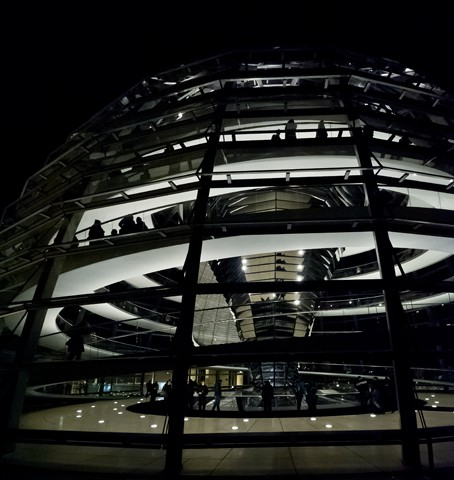 Reichstag Dome at Night  November 2012