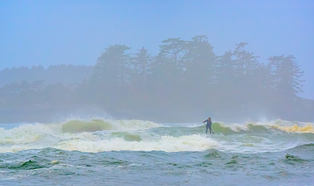 Surfer Paddling Out  Sep 2016