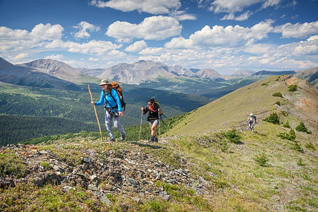 Ridge Hiking Above Persimmon Camp