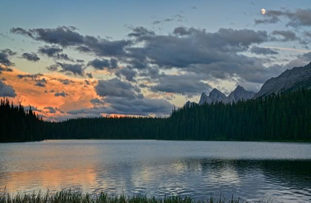 Moonrise over Moosehorn Lake