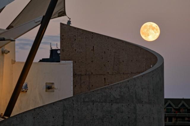 Meewasin Moonrise  August 2013