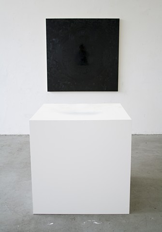 Sunyata, Painting, Oil, Alkyd, Varnish, Panel, Pedestal, Buddhism, Christopher Lin, Studio, Art