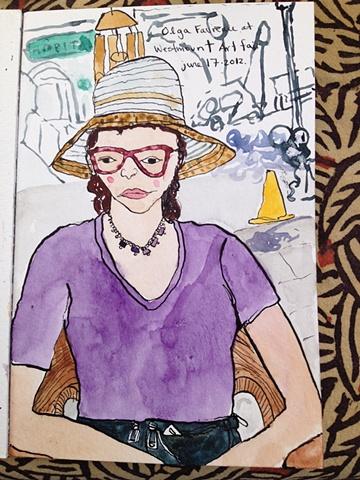 Accurate portrait from June 17, 2012 Art Walk Westmount: Olga Favreau