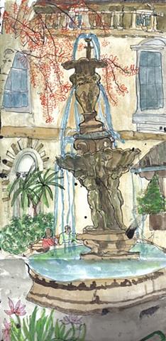 St.Bartholomew hospital fountain on View Day