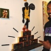 Ron Artest with my doll portrait of him