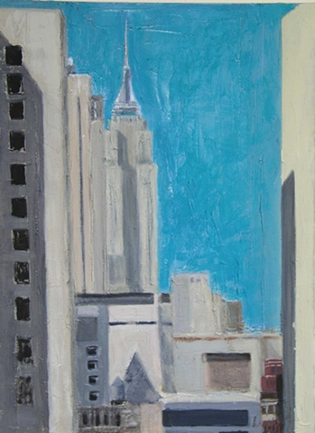 Painting of the Empire State Building New York City