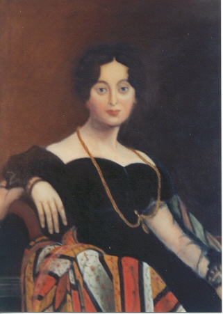 Rendition or copy of Ingres painting titled Portrait of Madame Leblanc