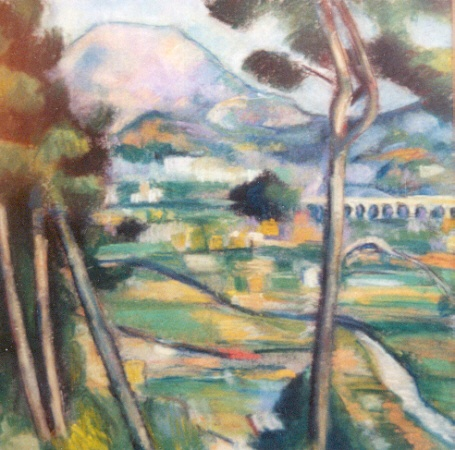 Rendition of Cezanne's Mont Saint-Victoire