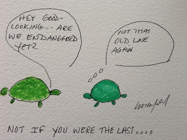 Turtle with pick up line