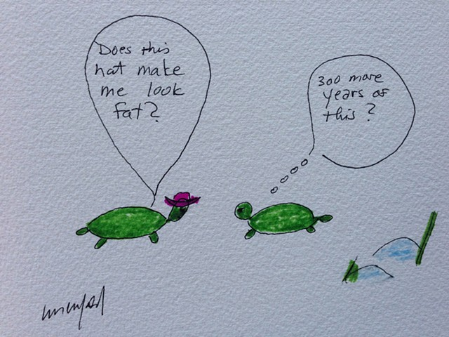 Green turtles in a relationship