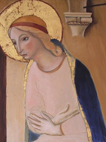 Rendition of Fra Angelico's Madonna from the Annunication