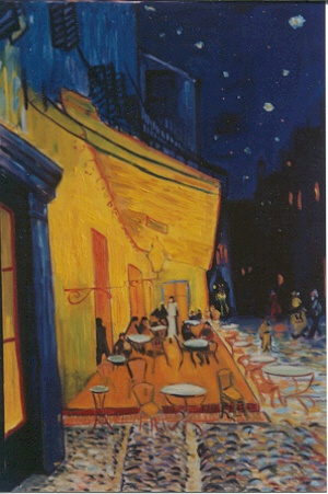 Rendition of Van Gogh's Cafe Terrace at Night
