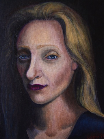 A PORTRET OF A WOMAN IN BLUE