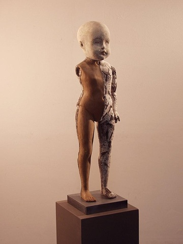 Unique modern doll by sculptor Dan Corbin completed in contemporary art style.