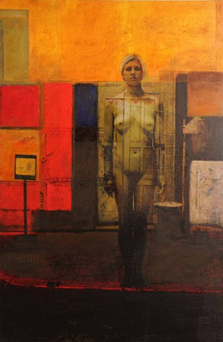 New figurative painting by Dan Corbin concerning reemergence of inexpensive heroine on the streets
