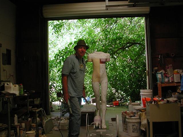 Dan In Los Molinos, California, studio.
