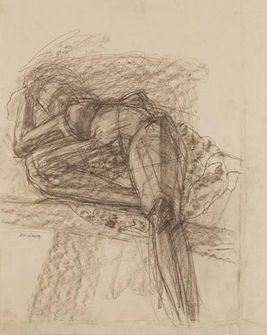 Foreshorten, Graphite on paper, 23 x28