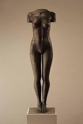 New stainless steel life sized figurative sculpture by Dan Corbin.