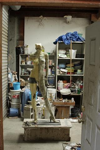 Her Excursion a sculpture by Dan Corbin shown at artmarkt, San Francisco.