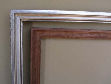 custom made in Maine picture frames in gilded finishes hand made handmade