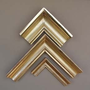 custom made in Maine picture frames in gilded finishes burnished gold leaf