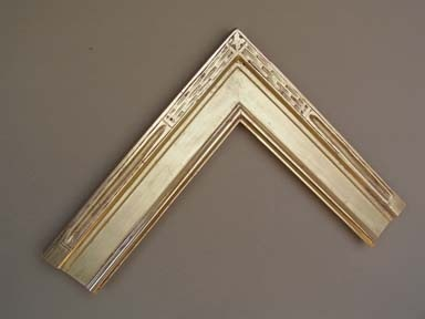 custom made in Maine picture frame hand carved burnished 22 karat gold leaf