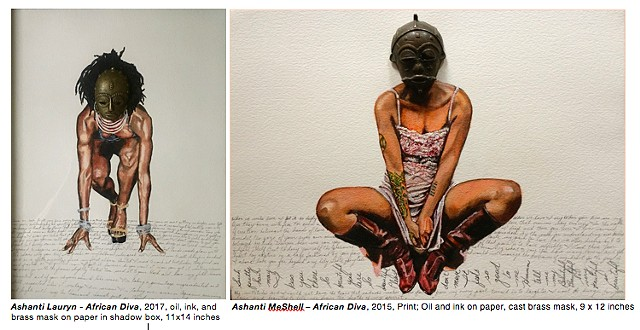 *Margaret Rose Vendryes'* *African Diva Project Ashanti Series* prints at the FINE ART PRINT FAIR, NYC