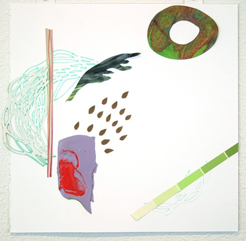 drawing, Libby Barbee, Collage