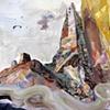 Reimagining Bierstadt:  Rocky Mountains (detail)