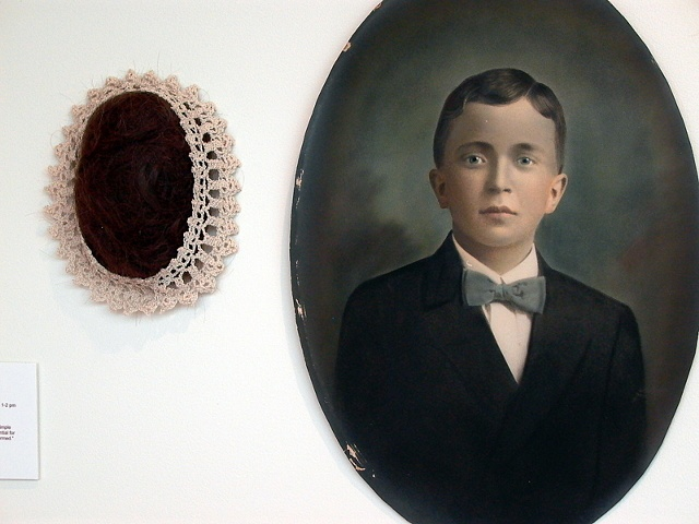 Portrait Wall, detail of boy