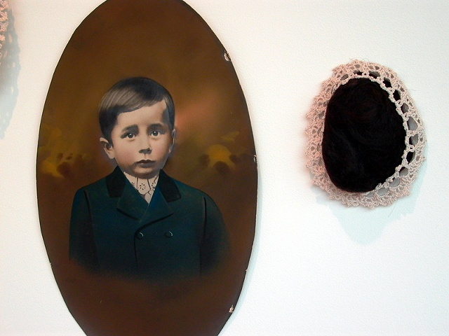 Portrait Wall, detail of young boy