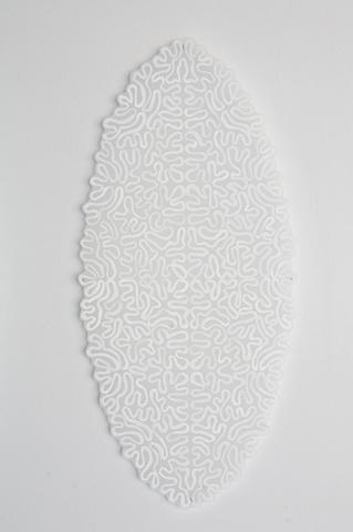 "Granny's Bobbin Lace, #2, 2011 acrylic on mylar 13 x 28"""
