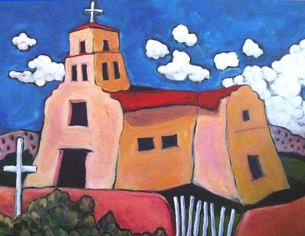 The Guadalupe church in Santa Fe, New Mexico