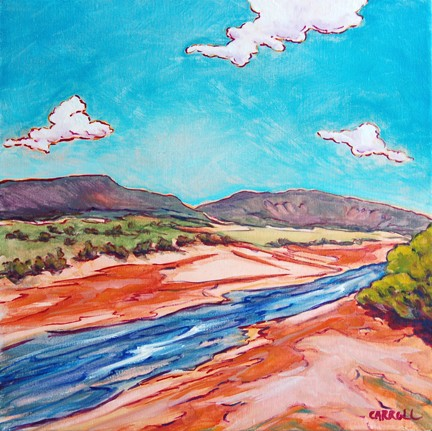 The Caprock Canyon Park in Texas yields some beautiful scenery including this little river.