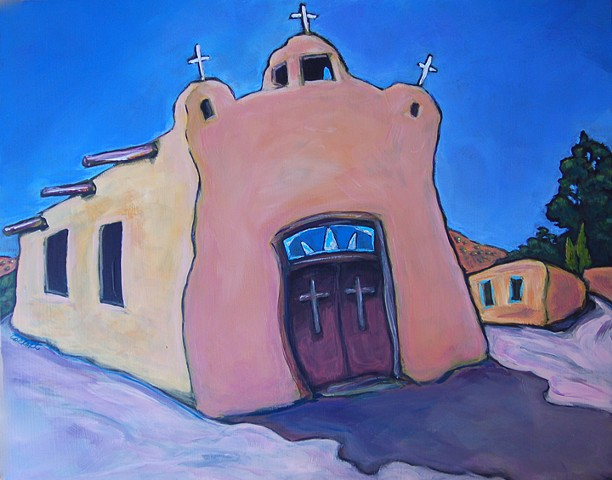 Talpa Church in Northern New Mexico, outside of Rancho de Taos.