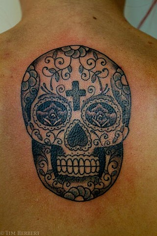Day of the Dead Tattoo by Jay Carter, 8th Day Tattoo, Jacksonville, Florida USA