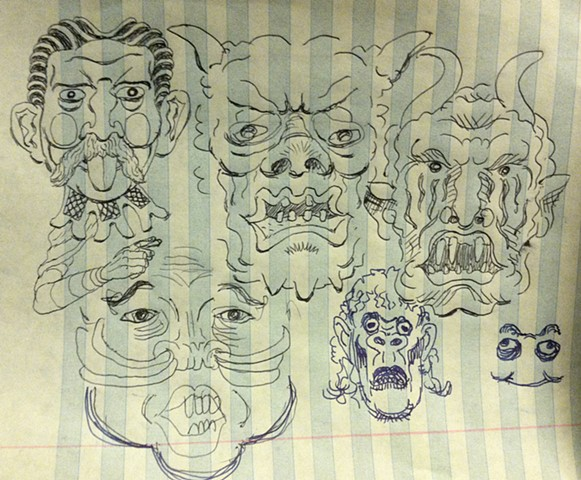 bizarre faces