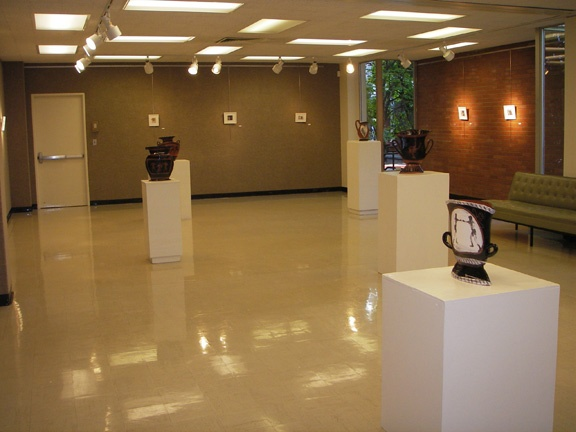 Exhibit at Pacific University with Michael Pfleghaar, installation view