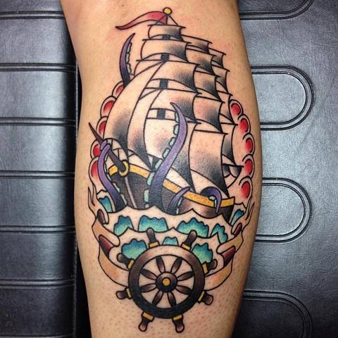 ship and wheel