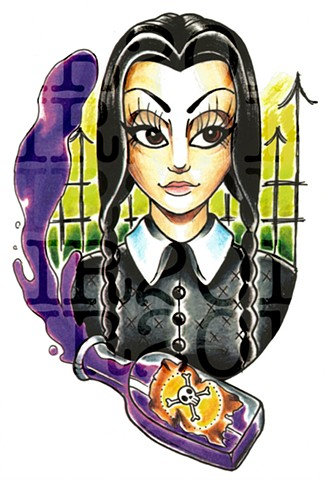 Wednesday Addams - Colored Pencil